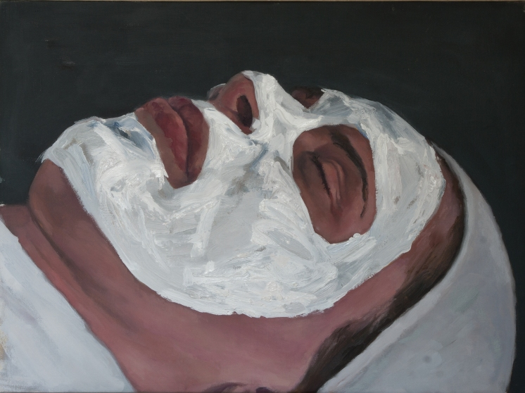 mask, oil on canvas, 47 x 64 cm, 2010
